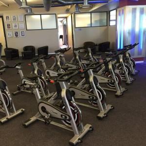 Spinning bikes gym